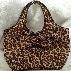 NWOT - Kate Spade Leopard Print Zip Up Tote